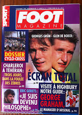 FOOT Magazine du 13/10/1993; Dossier Cyco-Cross/ George Graham/ Eric Gerets