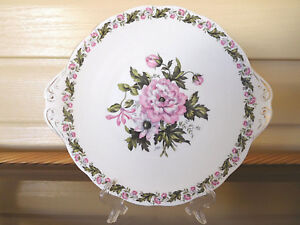 """Royal Albert """"Cotswold"""" Cake Plate Made In England 1940s"""