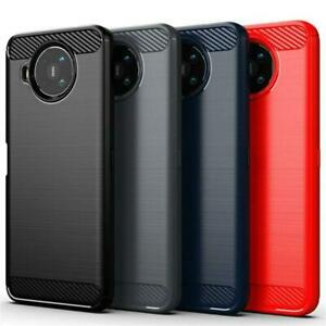 For Nokia X10 X20 5G Case, Slim Carbon Fibre Silicone Gel Shockproof Phone Cover