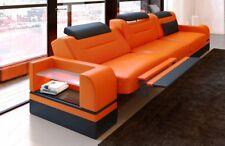 Design Leder Dreisitzer PARMA 3 Sitzer mit LED Beleuchtung und Relaxfunktion