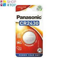 PANASONIC CR2430 LITHIUM POWER COIN BATTERY 3V CELL COIN BUTTON 1BL EXP 2030 NEW