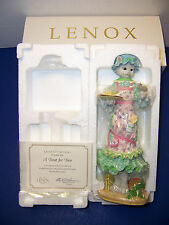 "Lenox ""A Treat for Two"" Cat Mouse Pencil Sculpture Porcelain Hand-Painted (NIB)"