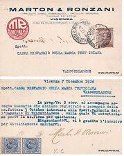 # pubblicitaria medicale: VICENZA- MARTON & RONZANI - prodotti farmaceutici 1926