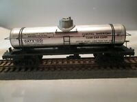 Vintage HO Scale Single-Dome Tank Car General American GATX 1001 Silver