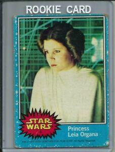Star Wars Series 1 Blue #2  (1977, Topps) Princess Leia Organa , Rookie Card