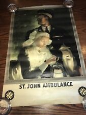More details for early st john ambulance poster (painting by anna zinkeison) london printer