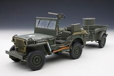 AUTOART 74016 - Jeep Willis 1942 avec remorque et accessoires  1/18