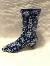 Blue/White Floral Chintz-Large Boot Figurine
