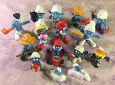 Smurfs Figures Lot Peyo Schleich PVC Mixed Lot 15 Huge Papa Smurfette Vintage
