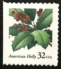 1997 Scott #3177 - 32¢ - AMERICAN HOLLY - Booklet Single Mint NH