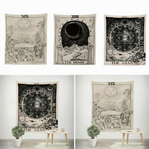 Tarot Tapestry Wall Hanging Magical Moon Sun Bedspread Tapestries Cover Decor