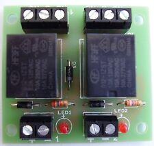 2 way relay board , 12vdc operation