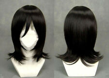 Black Bleach Kuchiki Rukia Straight Medium Short Anime Cosplay Wig
