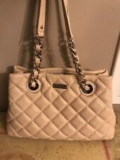 Kate Spade Small 'Maryanne' Ivory Gold Coast Quilted Leather Handbag Purse