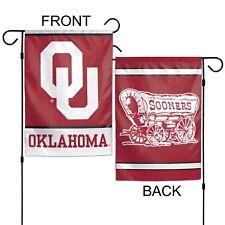 """University of Oklahoma Sooners 12"""" x 18"""" Premium Decorative Garden Flag"""