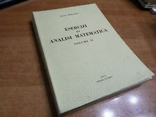 Amato Miranda ESERCIZI DI ANALISI MATEMATICA volume II Palermo 1972
