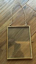 Metal And Glass Double Sided Hanging Picture Frame 12x16cm