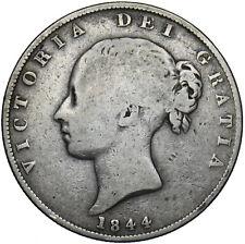 More details for 1844 halfcrown - victoria british silver coin
