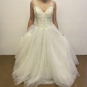 Sophia Tolli Wedding Dress Size 14 Ivory Blush White Maddalena Style (#H1/08)