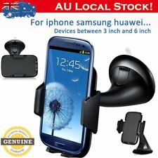 2x Adjustable Angle Car Phone Mount Holder Dock for iPhone Galaxy Huawei Black M