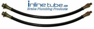63-64 Mopar A Body Front Drum Brake Rubber Flex Hoses Lines Tubes Set H015 2pc