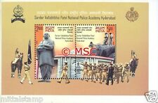 PMS65 INDIA 2008 SARDAR VALLABH BHAI PATEL POLICE ACADEMY MINIATURE SHEET MNH