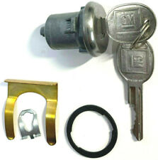 PONTIAC GM OEM 1 SINGLE DOOR LOCK KEYED CYLINDER W/2 OEM GM LOGO KEYS TO MATCH