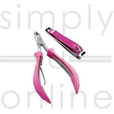Professional Pink Nail Clipper & Cuticle Nipper Set Manicure / Pedicure