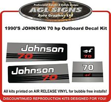 1990'S JOHNSON 70 HP  Outboard Decal kit  reproductions