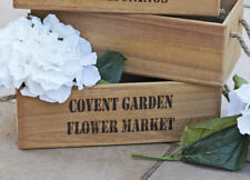 Wooden Flowers Home Storage Boxes