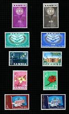 Zambia 1965-66 selection of 4 Commemorative sets sg108/17.