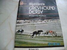 1975 GREYHOUND DERBY RACE CARD.winner TARTAN KHAN