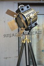 Vintage Industrial Tripod Floor Light Adjustable Home Decor Two Tone Searchlight