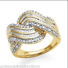 ROUND BAGUETTE ETERNITY INFINITY DIAMOND ANNIVERSARY WEDDING BAND RING SZ 7