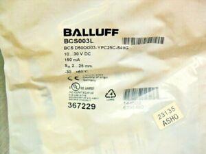 Balluff BCS003L Sensor; Capacitive; Ø50x10 mm; Flush; POM; 25mm Sealed Bag