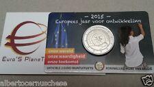 Coin card 2 euro 2015 BELGIO Belgique Belgica Belgie Belgium tipo onze wereld NL