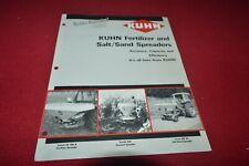 Krone Fertilizer Amp Salt Sand Spreader Dealers Brochure Cdil