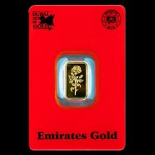 1 GRAM SOLID GOLD BULLION BAR BY EMIRATES
