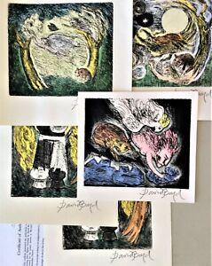 DAVID BOYD  5 original hand coloured etchings unframed