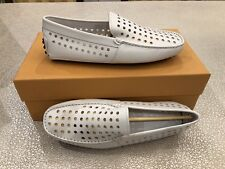 $595 New Tods Mens White Pantofola Gomini Loafers  Shoes Size US 6.5  UK 5.5 40