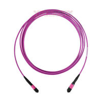 5m MPO Female 8 Fibers Type B LSZH OM4 50/125 Multimode Trunk Cable Patch Cord