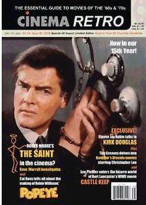 Cinema Retro #40 Roger Moore The Saint, Christopher Lee's Dracula, Kirk Douglas