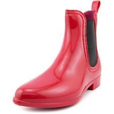 Calzado de mujer de nieve color principal rojo de goma
