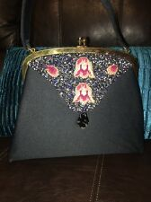 🌷Vintage 60's Jolles Original Austrian Petit Point Beaded Kelly Handbag