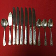 WM A ROGERS by Oneida LTD.- ROSALIE- Silverplate- Set of 11 Knives,Spoons
