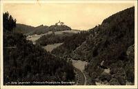 Burg Lauenstein Bayern s/w AK ~1940 Fränkisch thüringische Grenzwarte ungelaufen