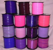 15 YDs Rexlace Gimp Plastic Lace Boondoggle 15 Pretty Pinks & Purples ~1 YD Each