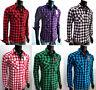 NWT Men WESTERN COWBOY Black CHECK Snap PLAID SHIRT t-shirt top VTG S M L XL 2XL