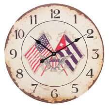 BRAND NEW EXTRA LARGE AMERICAN FLAG CLOCK 12 HOUR DISPLAY