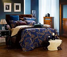 6 Piece Queen Size Duvet Cover Set Luxury Damask Bedding Dolce Mela Venus DM479Q